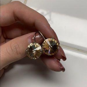 Rivoli dangle earring. I made myself.